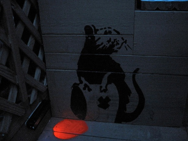banksy toxic rat w blacklight